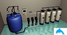 Промышленая система удаления радона из воды